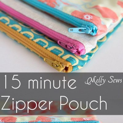 Written plus video tutorial shows you how to sew a zipper pouch – great practice for zippers and fun and quick gifts to make