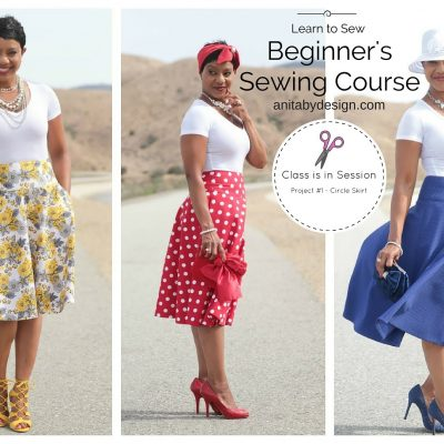 Beginner's Sewing Course – Project #1 – Circle Skirt (Part 1)