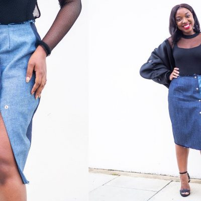 HOW TO MAKE A DENIM PENCIL SKIRT | PATTERN & SEWING TUTORIAL | KIM DAVE