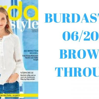 BurdaStyle 06/2018 Sewing Magazine Browse Through and #burdachallenge2018 plans