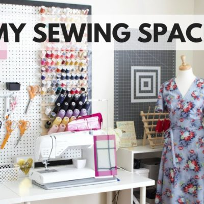 MY SEWING SPACE TOUR VIDEO