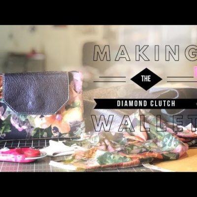 Making The Diamond Clutch Wallet Sewing Pattern by Teresa Lucio Designs