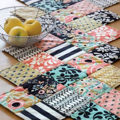 Zig Zag Table Runner w/ 5inch squares?