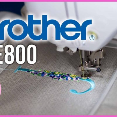 Brother PE800 Embroidery Machine Unboxing, Using For the 1st Time | SEWING REPORT