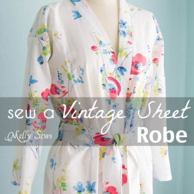 Sew a Robe from a Vintage Sheet – such a pretty project and dIY sewing tutorial – Melly Sews