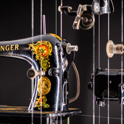 Machinations: Historical Machines Exploded into Individual Components in Sculptures by John A. Peralta