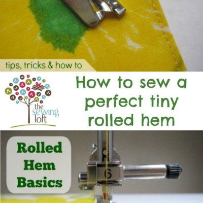 PRESSURE FOOT…………….PC……………All about how to sew a beautiful rolled hem on your machine with this specialty foot. Using
