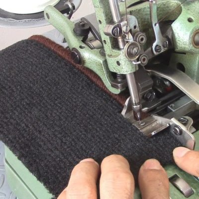 How to Thread a Carpet Serger Sewing Machine – Car Upholstery
