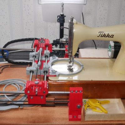 CNC Embroidery Machine Punches Out Designs a Stitch at a Time
