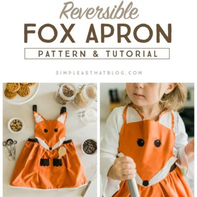 FREE pattern and instructions to make this adorable Fox Apron. #ad