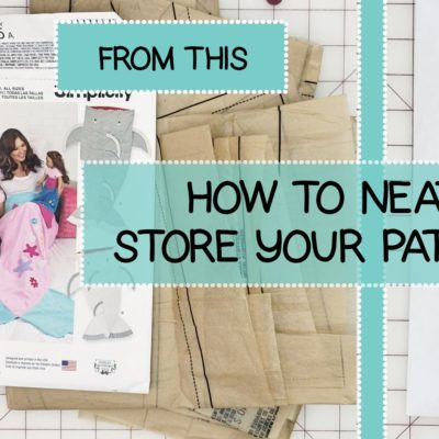 Neatly Storing Sewing Patterns
