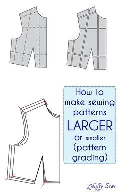 How to make Sewing Patterns Bigger (or smaller) – Melly Sews – Pattern Grading