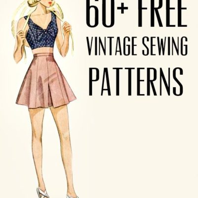 free vintage and retro dress sewing patterns, separates, lingerie and accessories