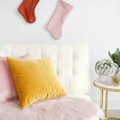 Quilted Velvet Pillows Tutorial