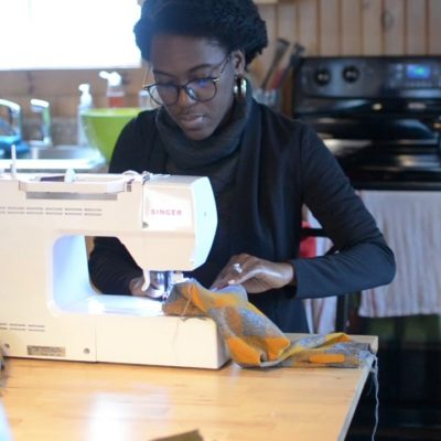 Our little sewing retreat! Vlogmas Day 10