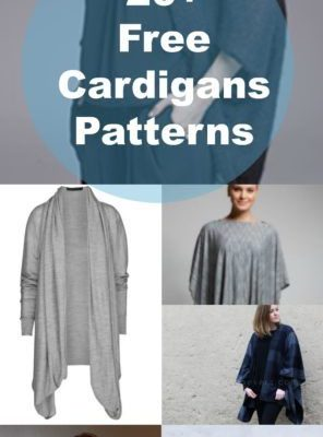 20+ Free Patterns for Cardigans and Sweaters: Are you looking for a great, affordable Cardigan and Sweater free PDF sewing pattern? Click