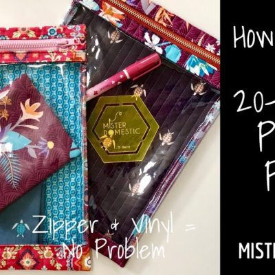 How to Sew 20-Minute Project Pouch with Mister Domestic