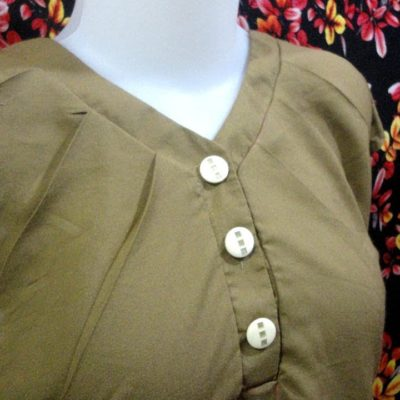 How to sewing simple model blouse (45)
