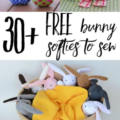 Check out over 30 free bunny softie sewing patterns. These are rabbit sewing tutorials and rabbit sewing patterns, all easy to make and
