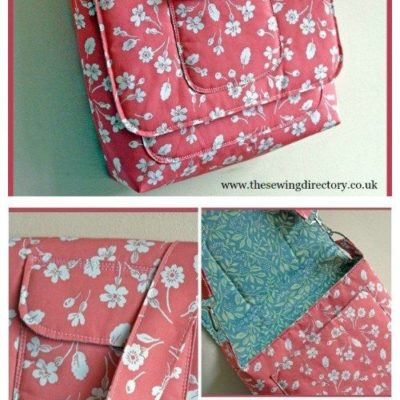 Free messenger bag sewing pattern. Ideal for use as a laptop bag, a tablet bag, a school bag or satchel, a crossbody bag or for college.