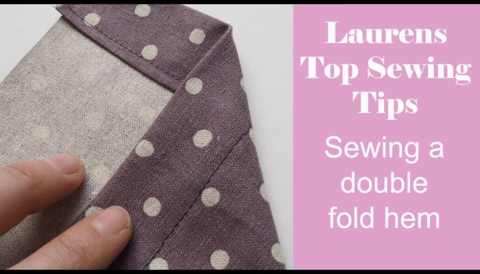 Laurens Top Sewing Tips – Sewing a hem on a garment