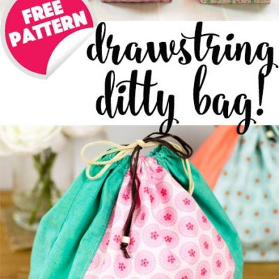 Drawstring Ditty Bag – free sewing pattern — SewCanShe | Free Sewing Patterns for Beginners