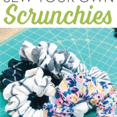 This week on our demo table we learned how to sew your own scrunchies! I know… totally 90's! But this hair accessory is making a BIG