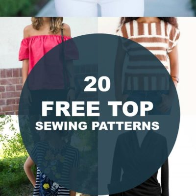 Free Sewing Patterns: 20 spring and summer tops and t-shirt tutorials: Get access to beautiful tops sewing patterns and tutorials. Learn