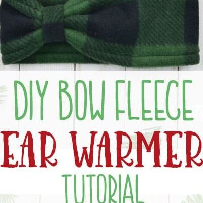 Make this cute Fleece Ear Warmer Headband DIY with bow styling. Great step by step instructions with pictures. Makes a great handmade gift.