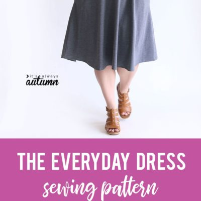 The Everyday Dress free sewing pattern in women's size large. #sewingpattern