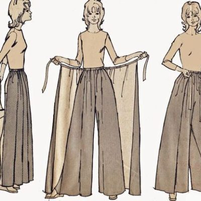 Palazzo Pants with Skirt Overlay Pattern Vintage 1970s Pantskirt Sewing Pattern Simplicity 5082 Size S M L by TheOldLeaf on Etsy