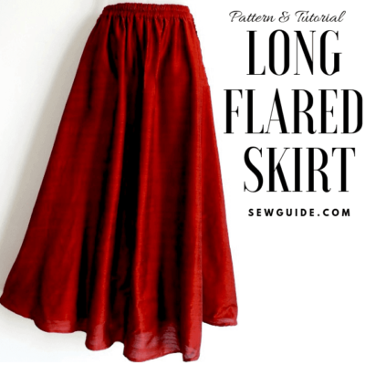 Make a long flared skirt {Free Size} Sewing Pattern & Tutorial – Sew Guide