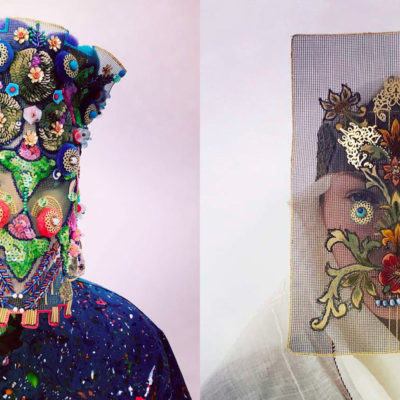 Sequined and Baubled Masks by 'Damselfrau' Fascinate with Mysterious Beauty