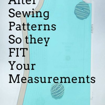 Learn hot to Grade or  Altering Sewing Patterns with this simple tutorial.     Now you can use multiple sizes of one sewing pattern and