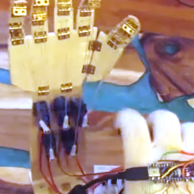 Haptic Glove Controls Robot Hand Wirelessly