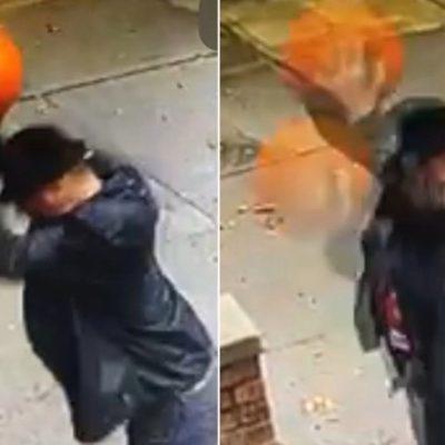 Brooklyn gentleman filmed destroying halloween pumpkins