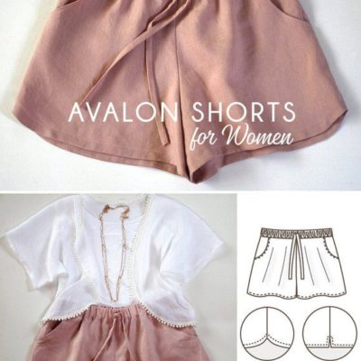 Avalon Shorts for Women Instant Download Pdf Sewing Pattern | Etsy