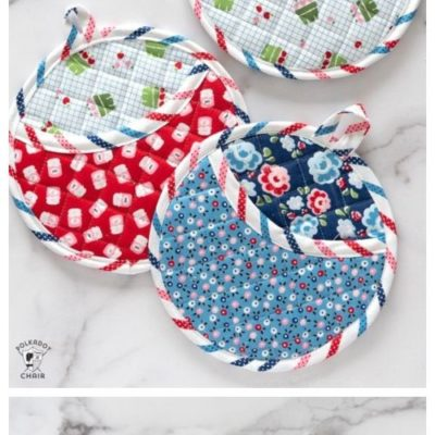 DIY Round Quilted Potholder Free Sewing Pattern & Tutorial