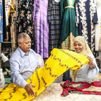 From a Stall in San Diego, a Somali Tailor Weaves a New Life