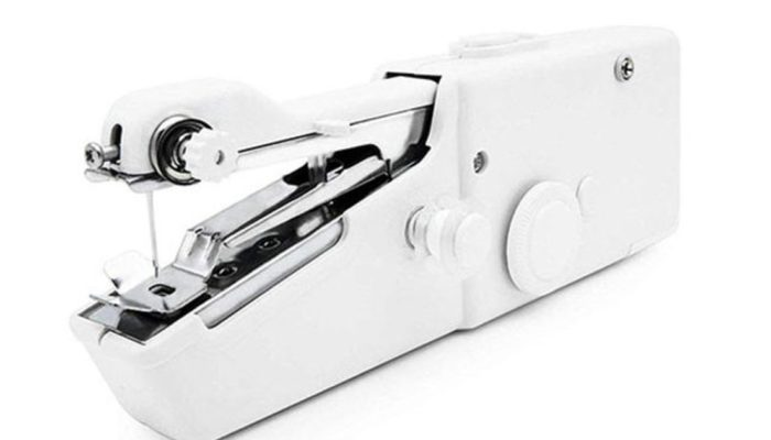 This $25 handheld sewing machine is great for quick fixes, easy stitches