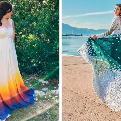 86 Brides Who Used Their Mad Sewing Skills To Make Their Own Wedding Dresses