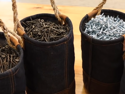 Making Denim Ditty Bags for Holding Hardware @JimmyDiResta