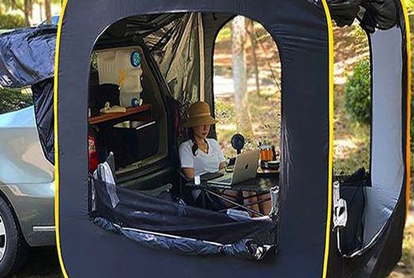 Save over $175 on this extended pop-up car tent for Father's Day