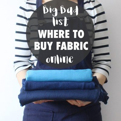 Big bad list of where to buy fabric online | a run down of the top places to find good fabric on the internet | Randomly Happy