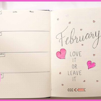 Bullet Journal February 2019 Monthly Spread 📝 BUJO FOR BEGINNERS | SEWING REPORT