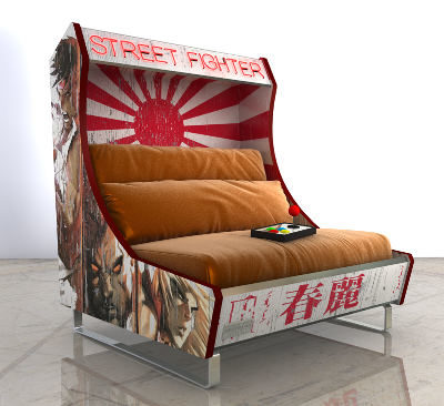 Cool: Custom Arcade Cabinet Inspired Sofas