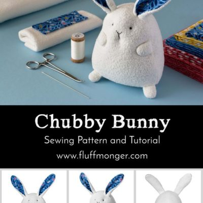 Chubby Bunny sewing pattern and tutorial by Fluffmonger — organic stuffed bunny kits, Easter crafts, bunny crafts, Spring DIY