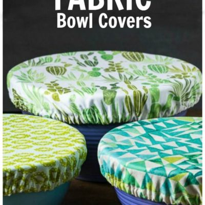 Instead of using plastic wrap, why not create your own fabric bowl covers. Great for keep insects out at picnics and makes a nice house