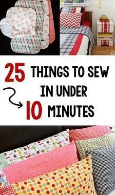 Quick and Easy Sewing Projects-These easy sewing tutorials are easy for anyone to sew. #sew #sewing #pattern #beginnersewing