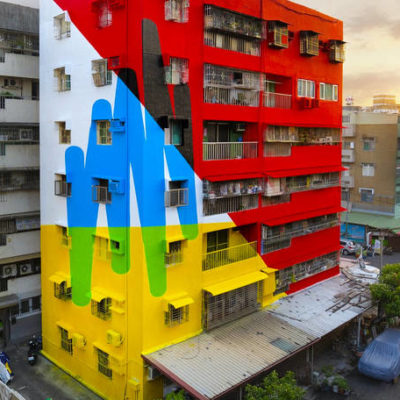 Vibrant Mural on a Building